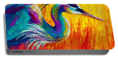 Stalking The Marsh - Great Blue Heron Portable Battery Charger