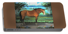 Stallion Portrait Portable Battery Charger by Dawn Senior-Trask