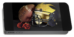 Stan Edwards's Autographed Helmet With Roses Portable Battery Charger