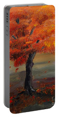 Stand Alone In Color - Autumn - Tree Portable Battery Charger