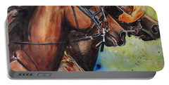 Standardbred Trotter Pacer Painting Portable Battery Charger