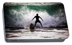 Portable Battery Charger featuring the photograph Standby Surfer by Jim Albritton