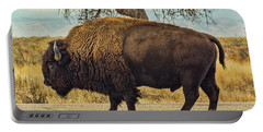 Standing Buffalo Portable Battery Charger by Steven Parker