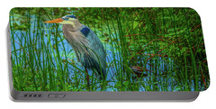 Standing Heron #1 Portable Battery Charger