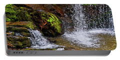 Standing In Motion - Brasstown Falls 011 Portable Battery Charger by George Bostian