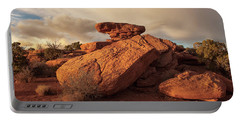 Standing Rocks In Canyonlands Portable Battery Charger by Alan Vance Ley