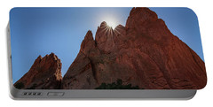 Standstone Sunburst - Garden Of The Gods Colorado Portable Battery Charger