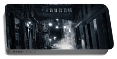 Staple Street Skybridge By Night Portable Battery Charger by Mihai Andritoiu