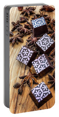 Star Anise Chocolate Portable Battery Charger by Sabine Edrissi