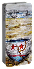Portable Battery Charger featuring the painting Star Boat by Monique Faella