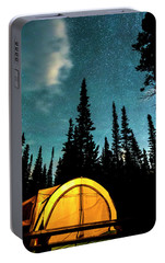Portable Battery Charger featuring the photograph Star Camping by James BO Insogna