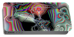 Portable Battery Charger featuring the digital art Star Defomation by Ron Bissett