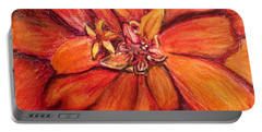 Portable Battery Charger featuring the drawing Star Flower by Vonda Lawson-Rosa