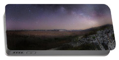 Star Flowers Square Portable Battery Charger by Bill Wakeley
