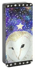 Portable Battery Charger featuring the painting Star Of The Night by Lise Winne