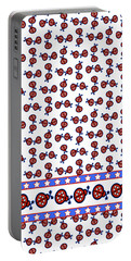 Portable Battery Charger featuring the digital art Star-spangled Lady Bugs by Methune Hively