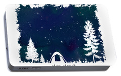 Portable Battery Charger featuring the digital art Star Struck by Heather Applegate