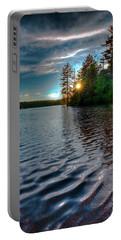 Star Sunset On Nicks Lake Portable Battery Charger