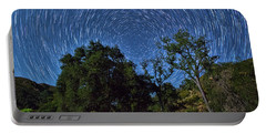 Star Trails Around Polaris Portable Battery Charger