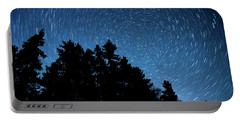 Star Trails In Acadia Portable Battery Charger