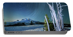 Star Trails Over Mt. Hood Portable Battery Charger by William Lee
