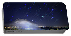 Star Trails Over Niagara River Portable Battery Charger by Charline Xia