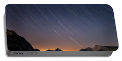 Star Trails Over The Apuan Alps Portable Battery Charger