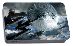 Star Trek Into Darkness, Original Mixed Media Portable Battery Charger by Thomas Pollart