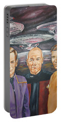 Star Trek Tribute Enterprise Captains Portable Battery Charger by Bryan Bustard