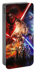 Portable Battery Charger featuring the painting Star Wars The Force Awakens Artwork by Sheraz A