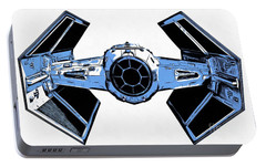 Star Wars Tie Fighter Advanced X1 Portable Battery Charger by Edward Fielding