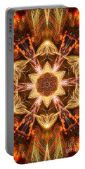 Starbright Mandala Portable Battery Charger by Wernher Krutein