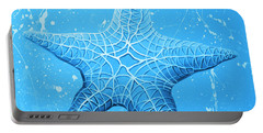 Starfish In Blue Portable Battery Charger