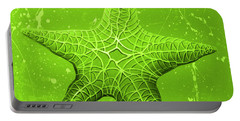 Starfish In Green Portable Battery Charger