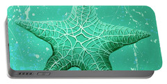 Starfish In Teal Portable Battery Charger