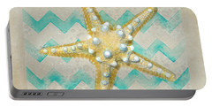 Starfish In Modern Waves Portable Battery Charger