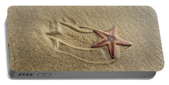 Starfish On The Beach Portable Battery Charger by Debra Martz