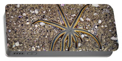 Starfish On The Beach Portable Battery Charger by Robert FERD Frank