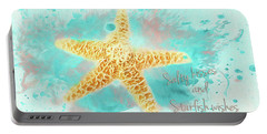 Portable Battery Charger featuring the photograph Starfish Wishes by Darren Fisher