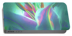 Stargazer-floral Abstract Portable Battery Charger
