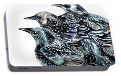 Starlings Portable Battery Charger by Marie Burke