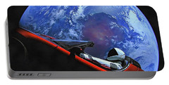 Starman In Tesla With Planet Earth Portable Battery Charger