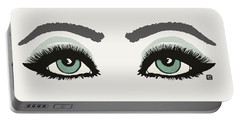 Starry Eyed Portable Battery Charger by Lisa Weedn
