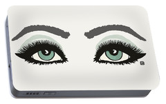 Portable Battery Charger featuring the painting Starry Eyed by Lisa Weedn
