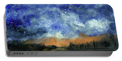 Starry Night Across Our Lake Portable Battery Charger