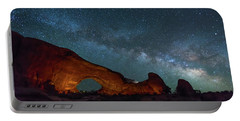 Starry Night At North Window Rock Portable Battery Charger
