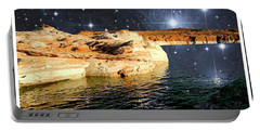 Starry Night Fantasy, Lake Powell, Arizona Portable Battery Charger