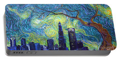 Starry Night Over The Queen City Portable Battery Charger