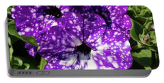 Starry Petunias... Portable Battery Charger