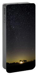 Starry Sky Over Virginia Farm Portable Battery Charger